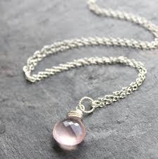 sterling silver quartz necklace images Rose quartz necklace pendant pink drop sterling silver aerides JPG