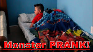The Monster Under The Stairs by Monster Under The Bed Prank Youtube