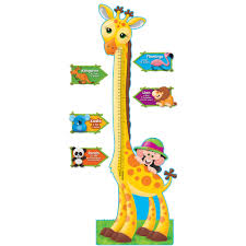 trend giraffe growth chart bulletin board set 6 ft walmart com