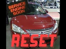 service engine soon light nissan sentra how to reset service engine soon light on a 2014 nissan sentra