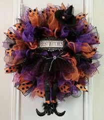 halloween witch wreath deco mesh wreath halloween decor spooky