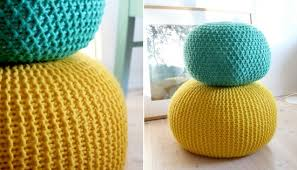 Crochet Ottoman Pattern Crochet Floor Pouf And Ottoman Free Patterns Floor Pouf Knitted