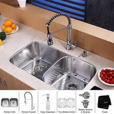 Kitchen Sink With Faucet Set Undermount Sink U0026 Faucet Sets Shop The Best Deals For Oct 2017