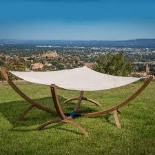 beachcrest home arica olefin hammock with stand u0026 reviews wayfair