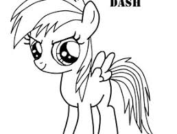 pony rainbow dash coloring pages free coloring