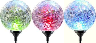 Glass Globes For Garden Moonrays 91251 Color Changing Solar Led Glass Ball Light Fixtures