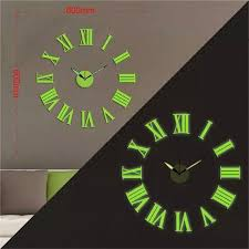 Wall Clock For Living Room by 3d Big Size Luminous Roman Numerals Wall Clock Acrylic Watch Diy