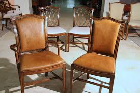 mahogany chippendale chairs for the dining room leather seats