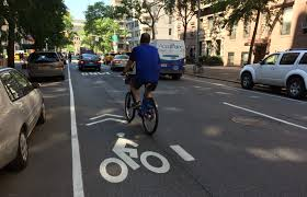 dot replaces a block of the fifth avenue bike lane with sharrows