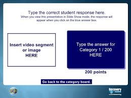 jeopardy template with video and image placeholders