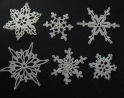 knitted snowflake etsy