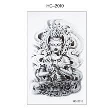 wholesale 19 12cm tatoo sticker sketch figure of buddha drawing