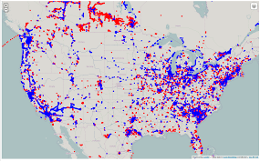 Red And Blue State Map by Toby U0027s Blog Of Open Mappy Things Licensed To Map What Happened