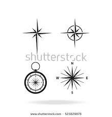 compass icons set stock vector 221714848 shutterstock
