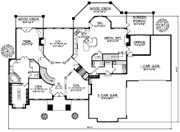 5 bedroom 1 story house plans luxury house plan 5 bedrooms 3 bath 5282 sq ft plan 7 506