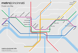 Metro Line Map by Metro Cincinnati Purple Line