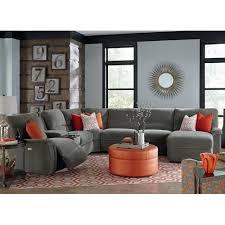 la z boy aspen seven piece power reclining sectional sofa with