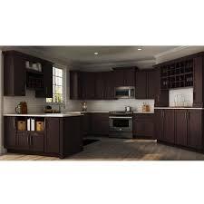 blind corner kitchen cabinet home depot shaker assembled 36x34 5x24 in blind base corner kitchen cabinet in java