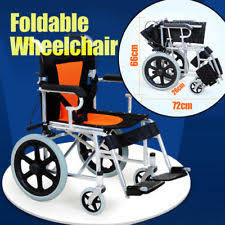 foldable wheelchairs ebay