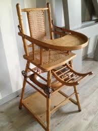 chaise pour bébé chaise haute bebe en bois vintage les vieilles choses