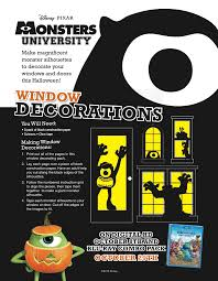 Monsters University Halloween by Monstersuniversity Halloween Window Decorations Monsters
