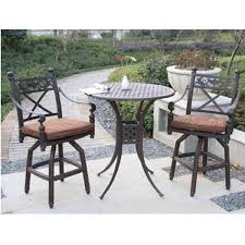 Bar Height Patio Dining Set Patio Outdoor Furniture Dining Sets And Bar Within Bistro