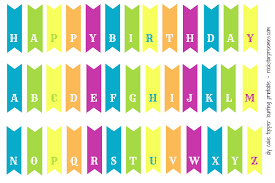6 best images of free printable bunting banner birthday cake