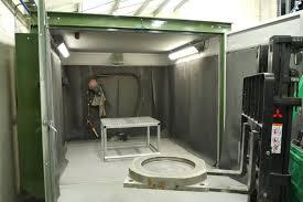 blast room upgrades surface finishing standards hodge clemco ltd