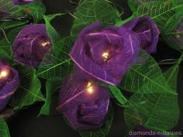 flower string lights for bedroom operated rose flowers string