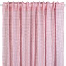 kinderzimmer gardinen rosa lakaro gardine vorhang vichykaro rosa 140x265cm bei fantasyroom