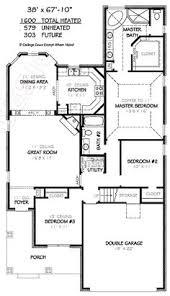 3 Bedroom House Plans Free 1600 Sf 3 Bedroom Modern Open Floor Plans 1600 Square Feet 3
