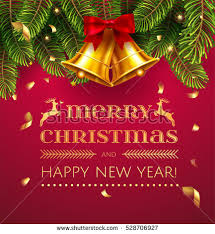 merry christmas happy new year greeting stock vector 528706927
