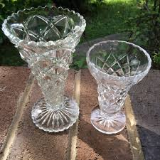 Cut Crystal Vases Antique Small Crystal And Cut Glass Vases U2013 Hello Vintage Hire