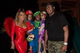 mariah carey hosts halloween party dressed as a skinny and tight devil