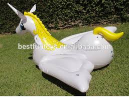 lake toys for adults high strength plastic large inflatable unicorn pegasus blown up pool