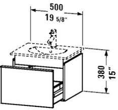 Duravit Fogo Vanity Unit Wall Mounted Duravit Fo9553 Fogo Wall Mounted Modern Bathroom Vanity Unit