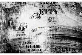 mural art face with inscriptions in black and white wall mural art face with inscriptions in black and white
