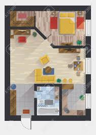 apartment or flat house or floor plan design view planning