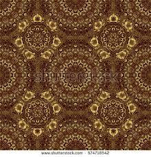 abstract seamless pattern golden ornaments on stock illustration