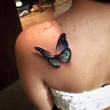 3d butterfly tattoo design ideas 2018