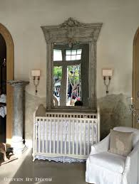 astounding large nursery mirror wall decor with whitewashed wood