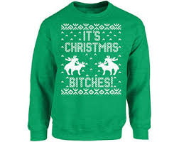 Ugly Christmas Sweater Party Poem - christmas bitches etsy