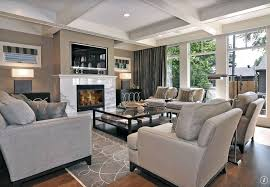 contemporary living room with box ceiling u0026 laminate floors