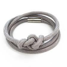 leather bracelet knots images Infinity knot bracelet in gull grey coastal road leather goods jpg