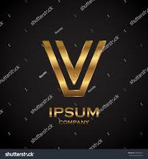 texture for logo letter v metallic texture3d glossy metal stock vector 586864391