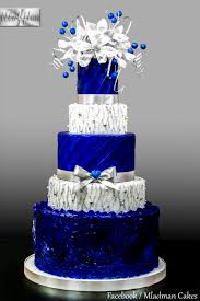 blue and silver wedding royal blue silver wedding cake cake by mladman cakesdecor
