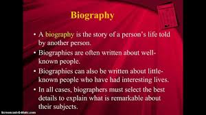 biography an autobiography difference biography autobiography memoir youtube