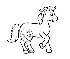 horse cartoon animals coloring pages for kids printable free