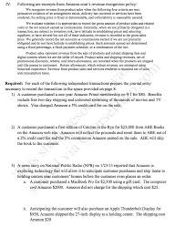 following are excerpts from amazon com u0027s revenue r chegg com