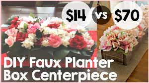 diy faux planter box centerpiece tutorial easy diy floral